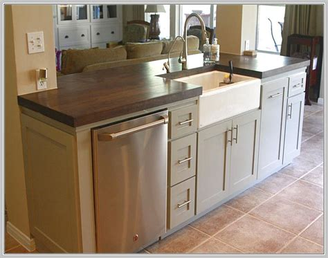 small kitchen island with sink and dishwasher home