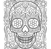 Day Of Dead Sugar Skulls Coloring Pages Car Pictures