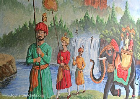 Wall Mural Nursery indian restaurant mural painting by richard ancheta montreal
