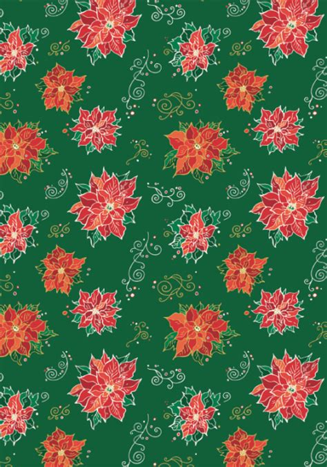 christmas pattern desktop christmas scrapbook paper poinsettias new pinterest