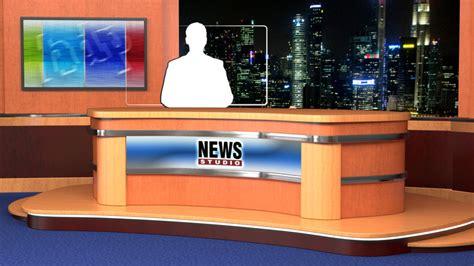 News Studio Desk by Lv 0023 News Studio Desk Datavideo Virtualset
