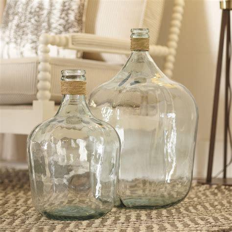 Glass Jug Vase birch recycled glass jug vase birch