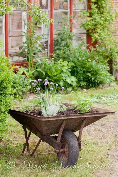 Rustic Wheelbarrow Planter by 335 Best Images About Wheelbarrows On Gardens