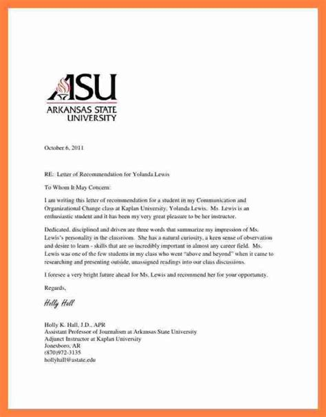 recommendation letter to graduate school from professor