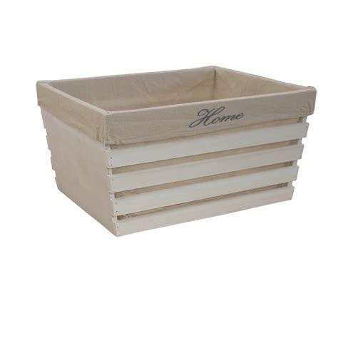 white crate buy white wooden crate storage box lined at the basket company