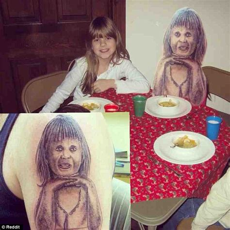 tattoo fail baby thumb terrible tattoos of bad portraits and animal drawings are