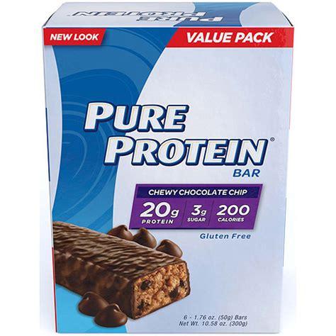 protein bars walmart protein chewy chocolate chip protein bar 1 76 oz 6