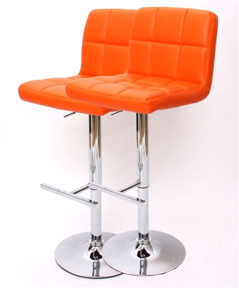 taburetes naranjas lote 2 taburetes kavala en color naranja conjunto de 2