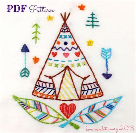 pinterest teepee pattern new on etsy c love teepee pdf embroidery pattern