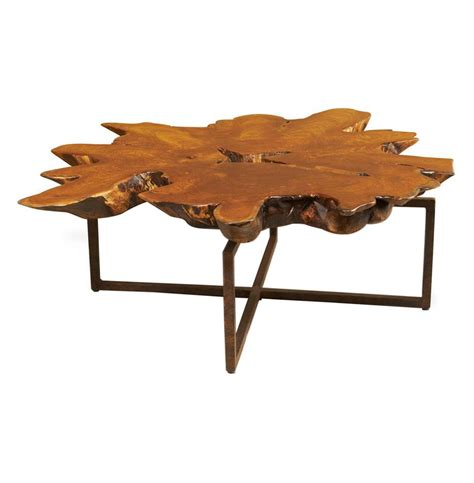 Rustic Teak Coffee Table Harrer Rustic Lodge Teak Root Iron Abstract Coffee Table Kathy Kuo Home