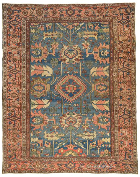 persian pattern png blue persian serapi antique rug claremont rug company