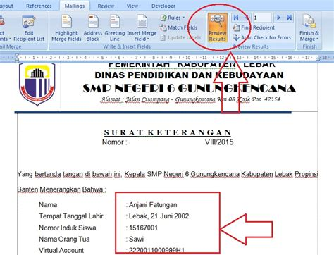 membuat mail merge word 2007 pdf membuat surat mail merge word 2007 cara membuat surat