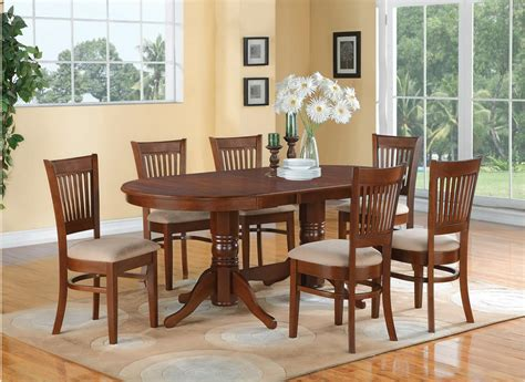 7 PC OVAL DINETTE DINING ROOM SET TABLE AND 6 UPHOLSTERED