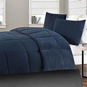 navy comforter microfiber to plush reversible 2 xl comforter