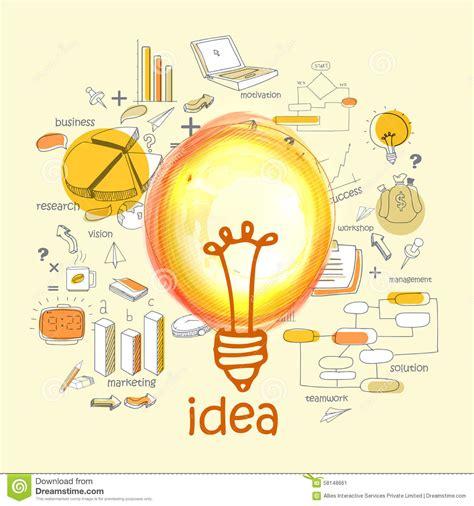 creative illustration for idea concept stock illustration