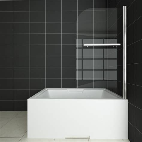 glass shower screen for bath 1000x1400mm 180 pivot 6mm glass bath screen shower door panel seal ebay
