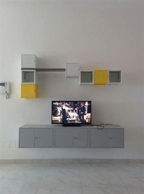 lixhult hack lixhult ikea parete attrezzata con mobile tv home