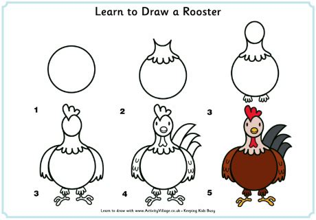 how to draw new year animals learn to draw a rooster