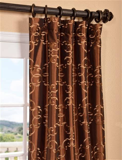 Copper Colored Curtains Get Copper Embroidered Faux Silk Curtains