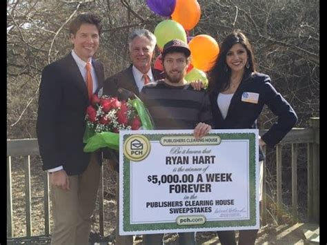 Sweepstake Winner - pch february 26th 5 000 a week quot forever quot winner ryan hart youtube