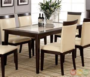 Marble Table Top Dining Set Evious I Contemporary Espresso Casual Dining Set With Faux Marble Table Top Cm3841t