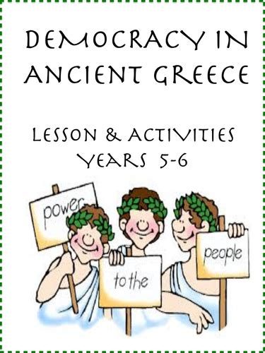 ancient democracy lesson yrs 5 6 by