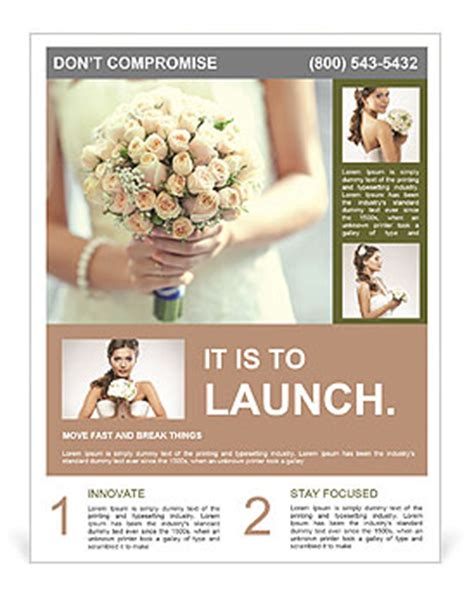 Wedding Brochure Bouquets by Beautiful Wedding Bouquet Flyer Template Design Id