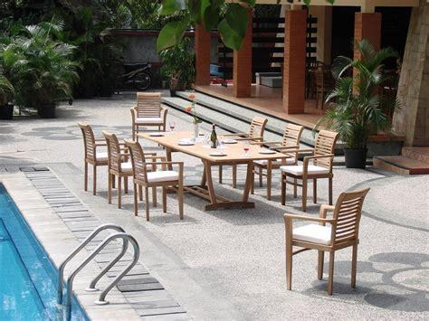 rectangular wood patio table grade a teak 117 wood rectangular outdoor dining table