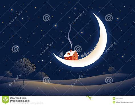 imagenes libres luna noche iluminada por la luna de la navidad ilustraci 243 n del