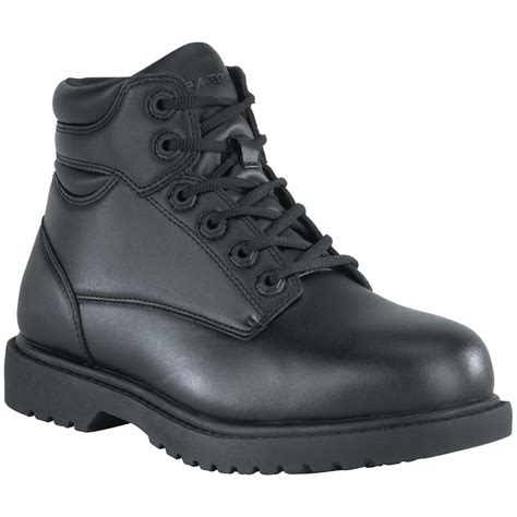 black work shoes grabbers 174 6 quot steel toe work boot black 580252 work