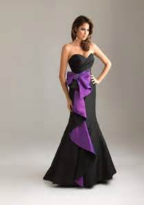 purple and black wedding dress gown prom dresses satin floor length ivory