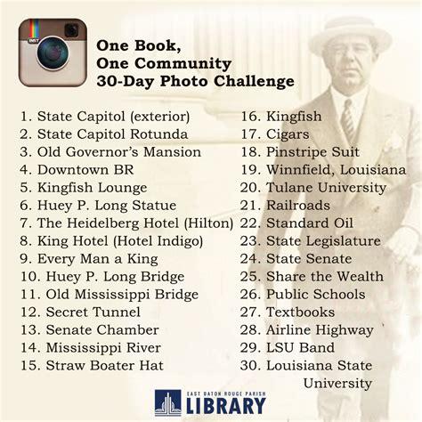 instagram 30 day photo challenge one book one community instagram challenge east baton