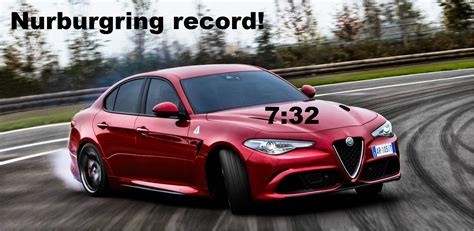 Alfa Romeo Giulia Nurburgring by Alfa Romeo Giulia Quadrifoglio Record At Nurburgring