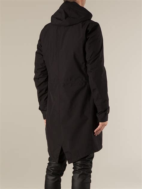 Parka Black 1 lyst herno fishtail parka in black for