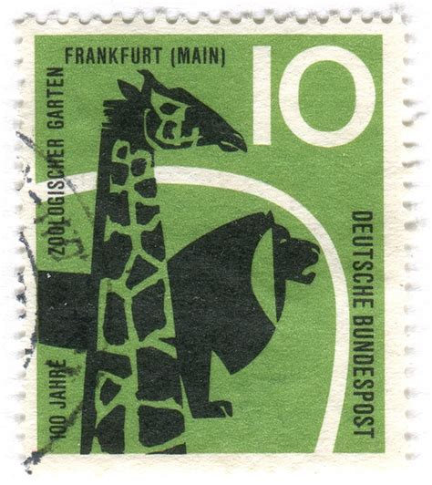 Zoologischer Garten Post by Amazing St Gallery Germany Postage St Zoo C 1958