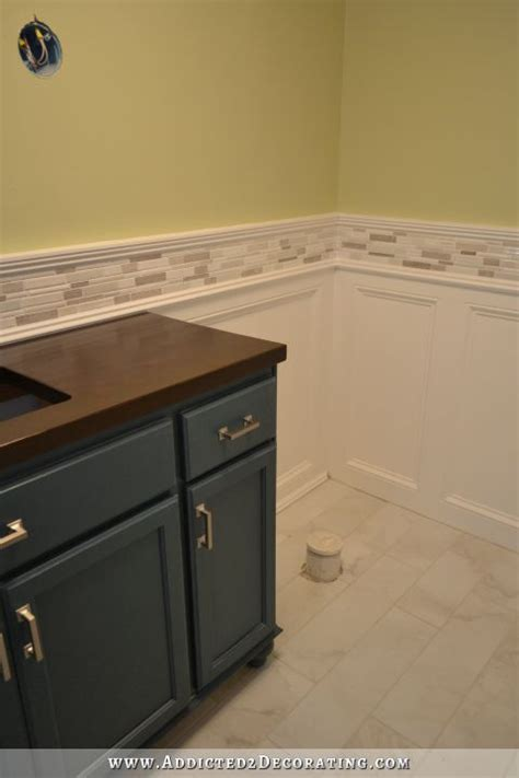 wainscot tile finished recessed panel wainscoting judges paneling with