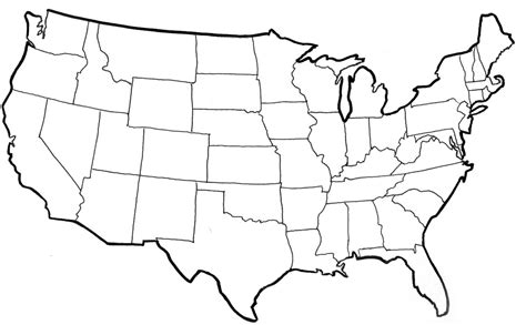 usa map black and white outline regions of the united states thinglink