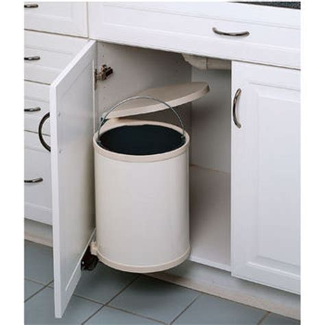 kitchen cabinet with trash bin 14 or 15 liter round white stainless steel container