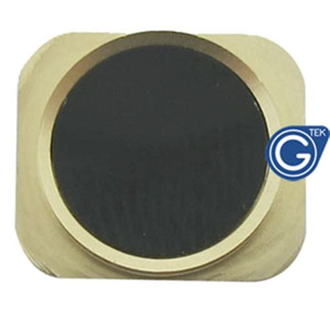 iphone 5 black home button with gold chrome ring iphone