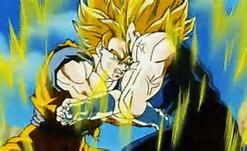 Dragon Ball Z Super Saiyan 4 Goku vs Vegeta GIF