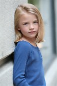 Little Girl Models with Blonde Hair