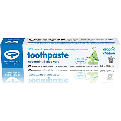 Green Organic Children Toothpaste green organic children s spearmint aloe vera