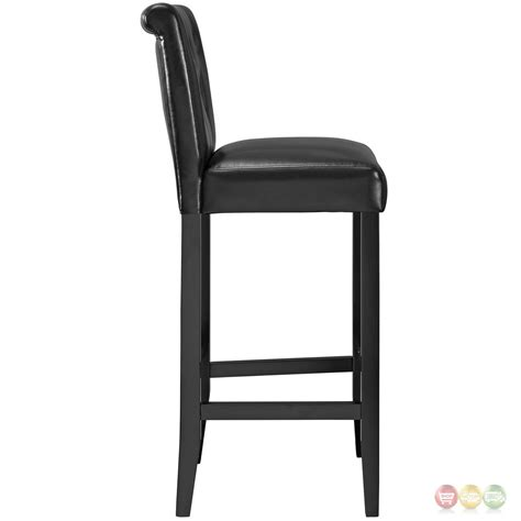 black leather tufted bar stools tender modern button tufted faux leather bar stool w foot