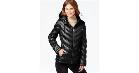 Calvin Klein Chevron Quilted Packable Puffer Coat by Calvin Klein Chevron Quilted Packable Puffer Coat In