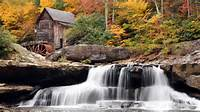 Autumn Mill Beautiful Nature Scenic Waterfall 254976