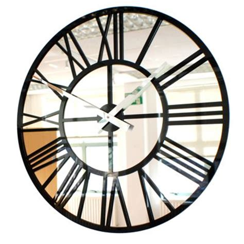 Clocks And Mirrors Modern Vintage Mirror Skeleton Wall Clock Uk