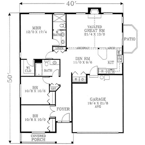 1400 square foot house plans 1400 square feet 3 bedrooms 2 batrooms 2 parking space