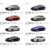 2015 Toyota Camry Colors And Trims  Visual Buyers Guide