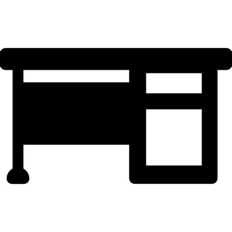 Office Desk Free Buildings Icons Office Desk Icon