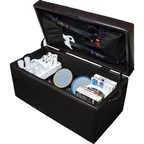 your zone gaming storage ottoman black gamer storage ottoman universal gaming storage